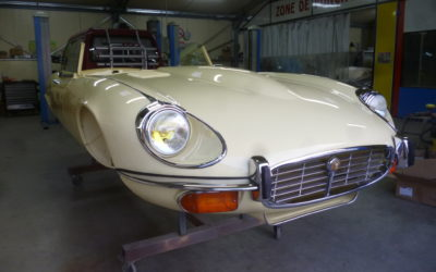 Restauration Jaguar type E V12.