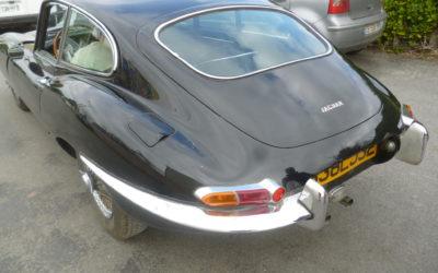 Restauration Jaguar type E coupé 3.8 L de 1963.